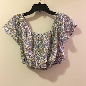 American Rag off shoulder floral top
